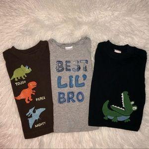 Gymboree T-shirts (1long) (2short)